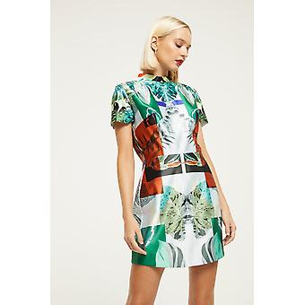 Skeena S Leaf Print Mini Dress