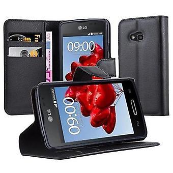 Cadorabo Hülle für LG L50 - Handyhülle mit Magnetverschluss, Standfunktion und Kartenfach – Case Cover Schutzhülle Etui Tasche Book Klapp Style