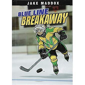 Blue Line Breakaway (Jake Maddox Sports Stories)
