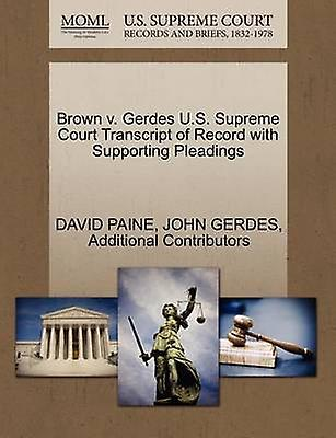 marron v. Gerdes U.S. Supreme Court Transcript of Record with Supporting Pleadings by PAINE & DAVID