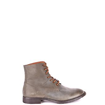 Armani Jeans Green Leather Ankle Boots