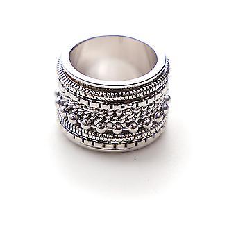 Mm6 Maison Margiela Silver Brass Ring