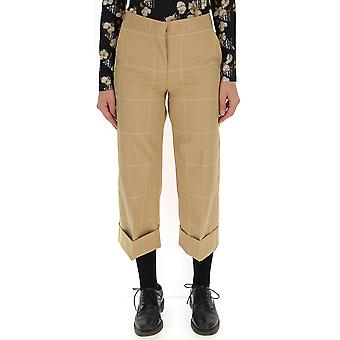 Off-white Beige Cotton Pants