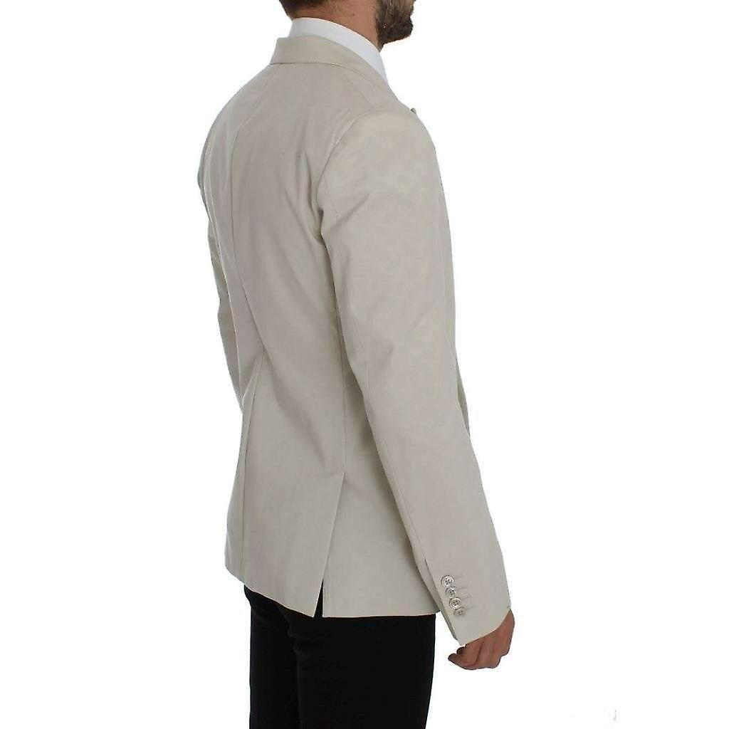 Dolce & Gabbana White Cotton Stretch Blazer Jacket -- GTT1453317