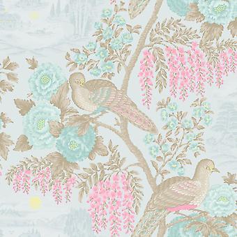 Bloem behang bloemen vogels Oosterse plakken de muur Duck Egg alanmccutchen Holden