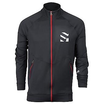 Form Athletics Mens Track Jacket - Black/Red