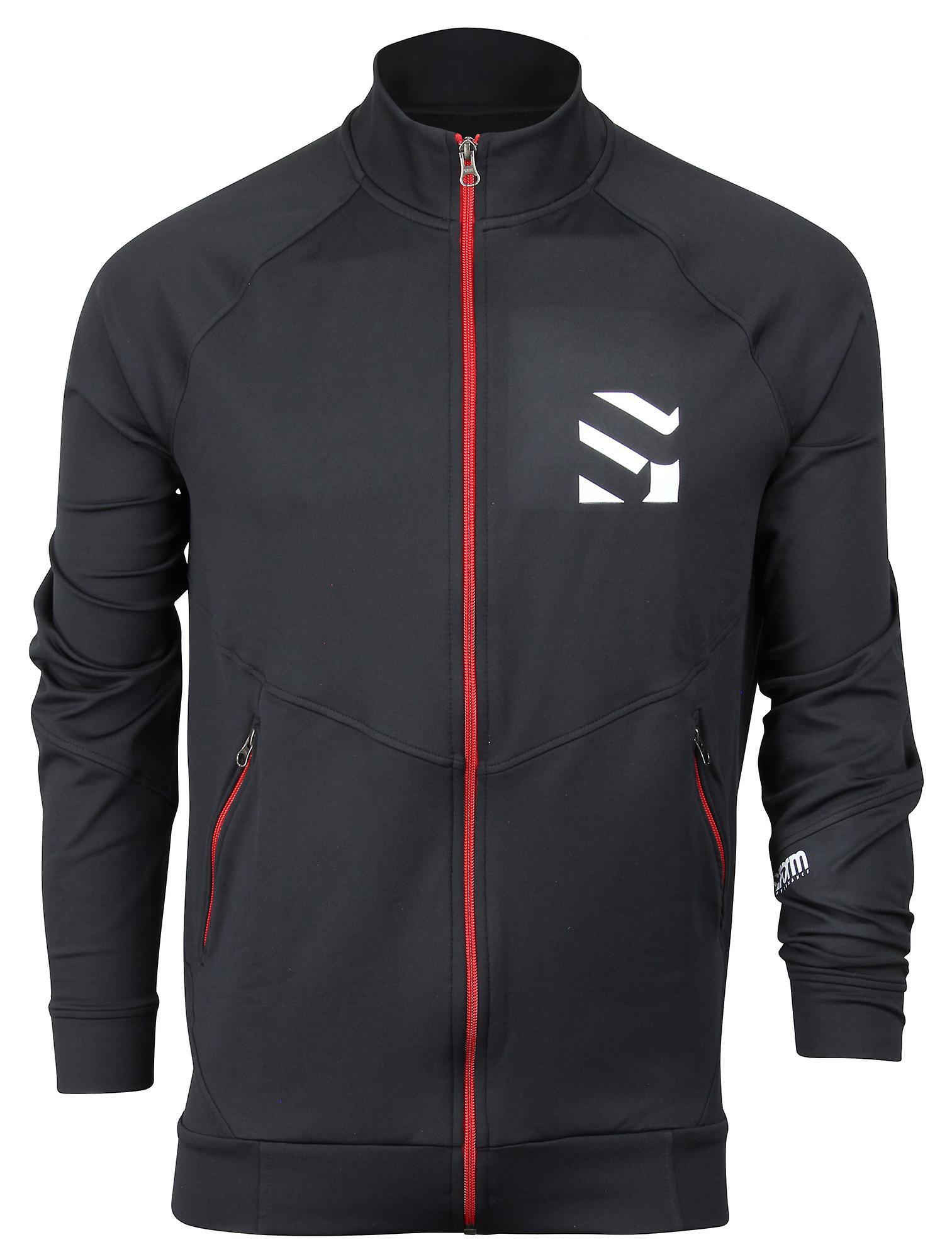 Former l'athlétisme Mens Track Jacket - noir rouge