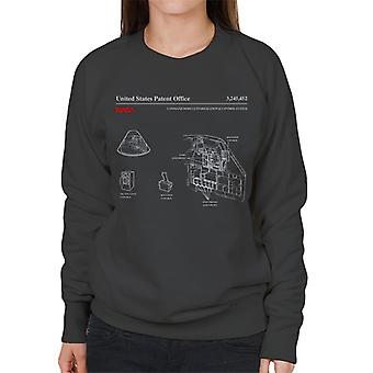 NASA Monitorbox Control System Blueprint Damen Sweatshirt