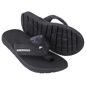 Quiksilver Mens flyt sandaler - svart/grå