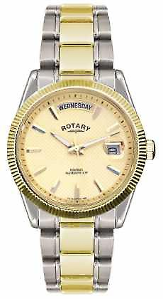 Rotary Gent's Two Tone Stainless Steel Bracelet  Havana GB02661/20 Watch