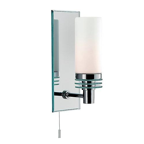 Searchlight 5611-1CC Bathroom Lighting 1 Light IP44 Rated Mirrored Back Plate Wall Bracket