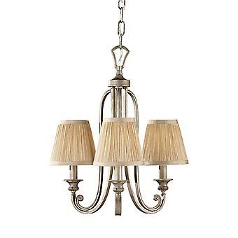 Abbey Silver Sand tre ljus ljuskrona med nyanser - Elstead belysning Fe / FE/ABBEY3