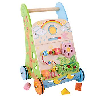 Bigjigs Toys Wooden Flower Activity Walker Learning Stroller Centre Educational