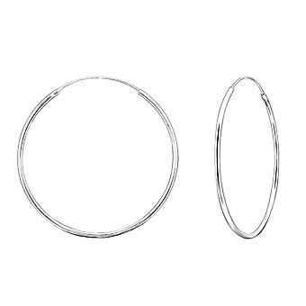 4cm Sterling Silver Hoop Earrings