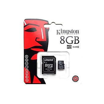 Kingston 8GB micro SD klasse 4 met standaard SD-adapter