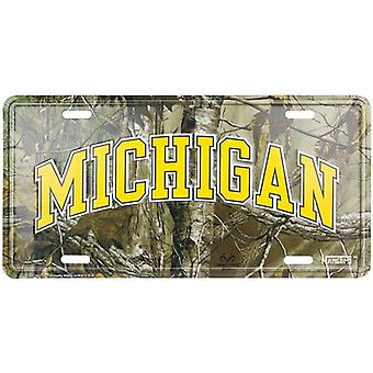 Michigan Wolverines NCAA Camo License Plate