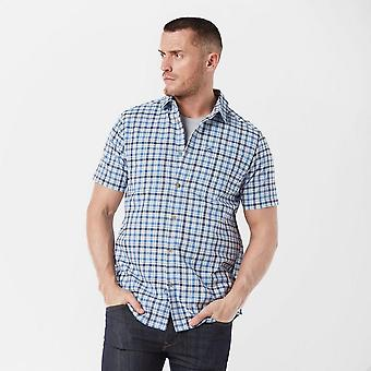 New Craghoppers Men's Short Sleeve Giovannu Shirt Light Blue