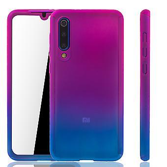 Xiaomi Mi 9 SE Funda de Protección de La Funda de La Cubierta Completa del Tanque De vidrio Rosa / Azul