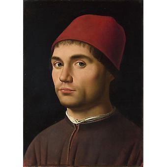 Portrai of a Man,Antonello da Messina,35.6x25.4cm