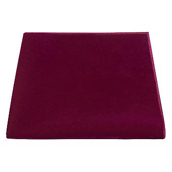 Luxe Morrocan Red Velvet Pocket Square, Mouchoir, Rose Foncé