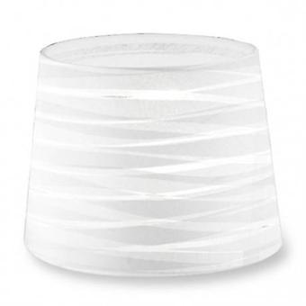 Dress Up Tapered Round Textured White Finish Shade