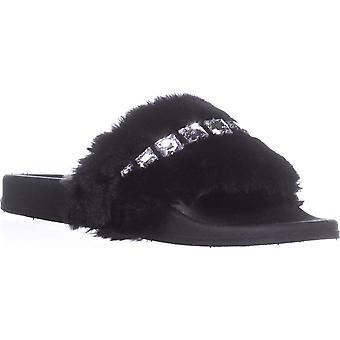 Material Girl Womens Priya Open Toe Casual Slide Sandals