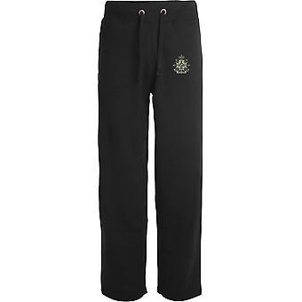 Border Regiment - Licensed British Army Embroidered Open Hem Sweatpants / Jogging Bottoms