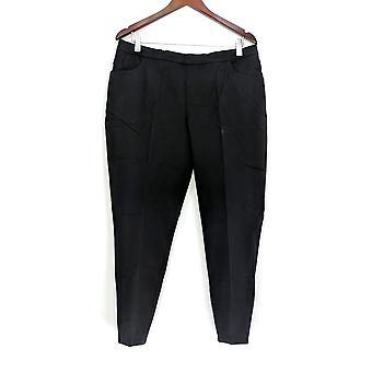 Isaac Mizrahi Live! Vrouwen ' s Petite broek 24/7 stretch slanke been zwart A309567