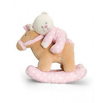 Keel Toys Musical Rocking Horse With Bear Plush Toy