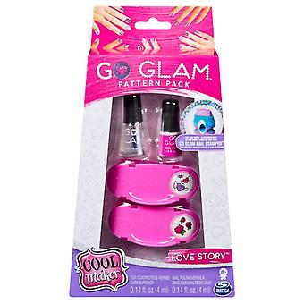 Go Glam Nail Stamper Refill - Love Story