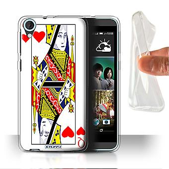 STUFF4 Gel/TPU Case/Cover for HTC Desire 820s Dual/Queen of Hearts/Playing Cards