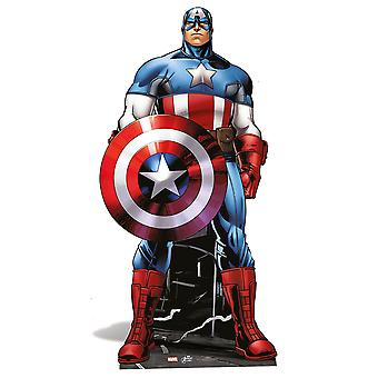 Captain America Mini Cardboard Cutout / Standee / Standup - Marvel The Avengers Super Hero