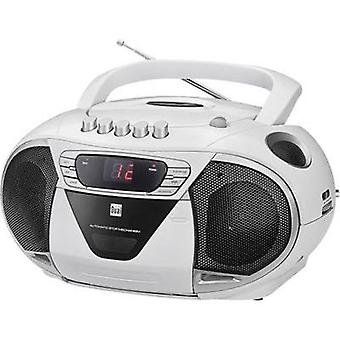 FM Radio/CD Dual P 65 AUX, CD, Tape, AM, FM White