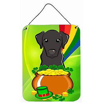 Black Labrador St. Patrick's Day Wall or Door Hanging Prints BB1979DS1216