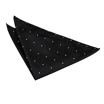 Black Pin Dot Handkerchief / Pocket Square