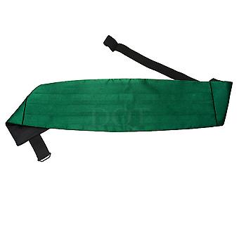 Plain Emerald Green Satin Cummerbund