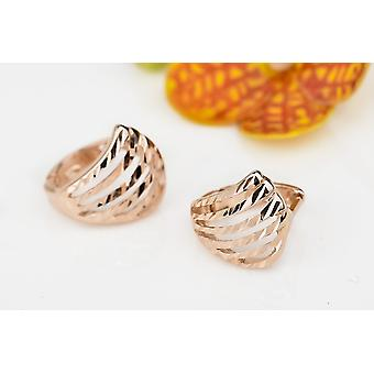Affici Sterling Silver Huggie Earrings 18ct Rose Gold Plated