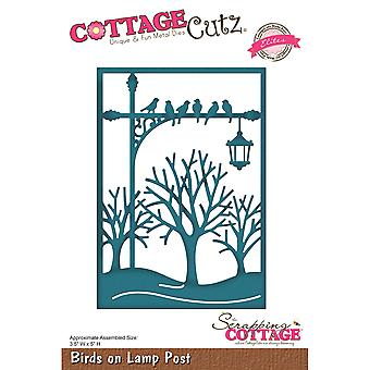 CottageCutz Elites Die -Birds On Lamp Post, 3.5