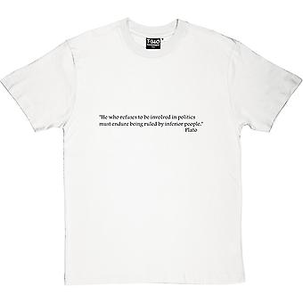 Plato Politics Quote Men's T-Shirt