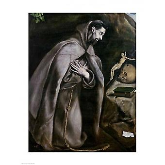 St Francis of Assisi Poster Print by El Greco