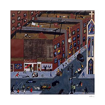 Harlem Street Scene 1942 Poster Print by Jacob Lawrence (20 x 20)