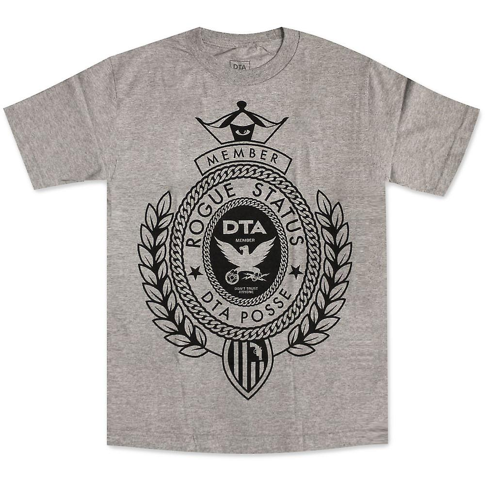 DTA RS große Crest T-shirt Athletic Heather Black