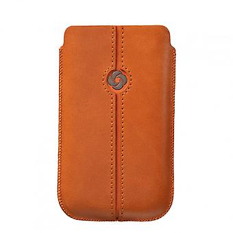 SAMSONITE DEZIR Mobile bag leather Orange to tex iP4