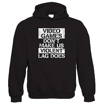 Vectorbomb, Video Games Don't Make Us Violent Hoodie (S to 5XL)