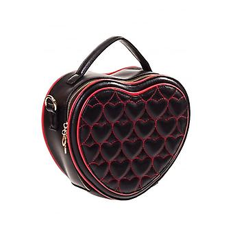 Banned Apparel Banned Apparel 50's Heart Shapped Handbag