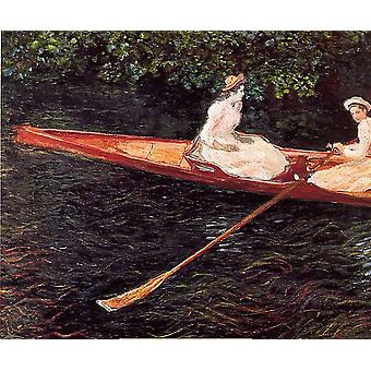 Claude Monet - Boat on the Epte Poster Print Giclee