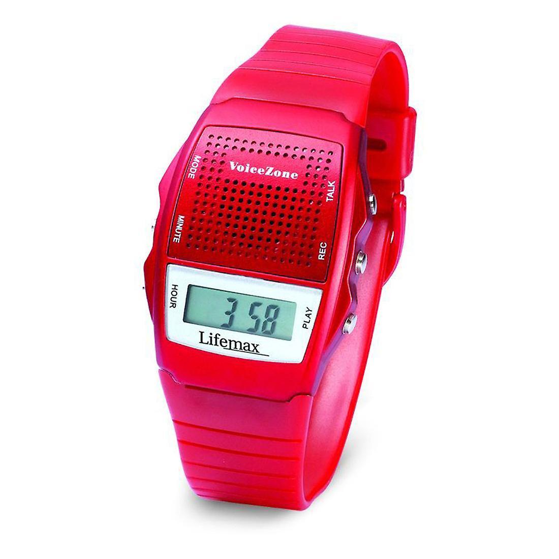 Talking Memo Watch - Metallic Red