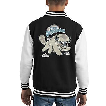 My Little Sky Bison Avatar Last Airbender Pony Kid's Varsity Jacket