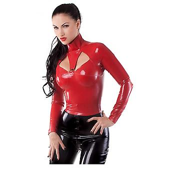 Vestpå bundet Contessa Latex gummi Top.