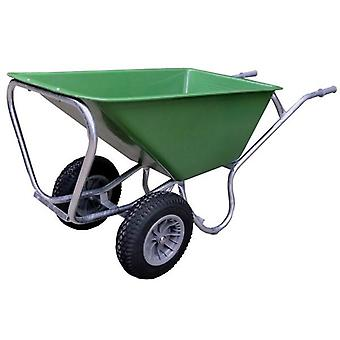 County Mammoth Prime Twin 160L Green Wheelbarrow